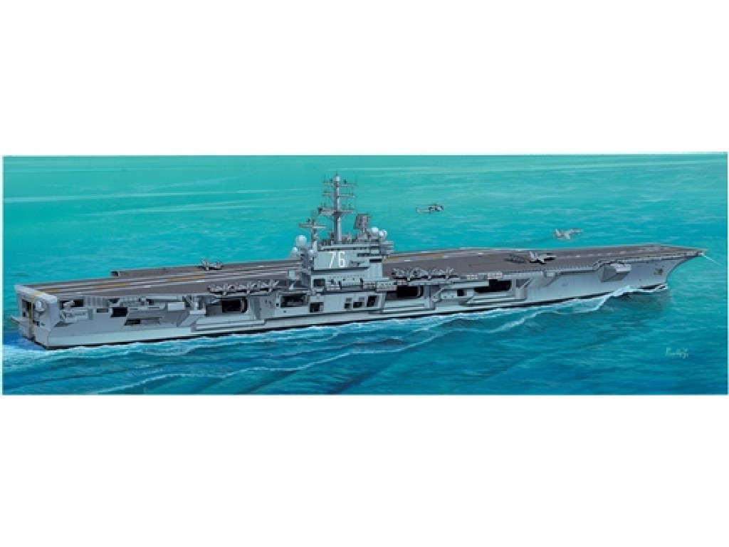 1/720 Plastikový model - loď 5533 - U.S.S. RONALD REAGAN CVN-76