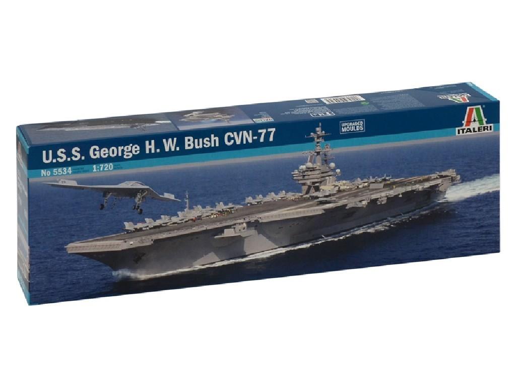 1/720 Plastikový model - loď 5534 - U.S.S. GEORGE H.W.BUSH CVN 77