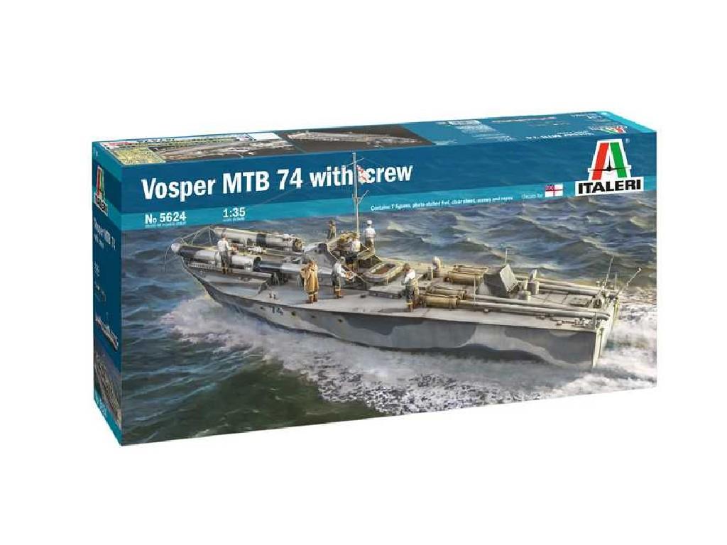 1/35 Plastikový model - loď 5624 - Vosper MTB 74 with crew