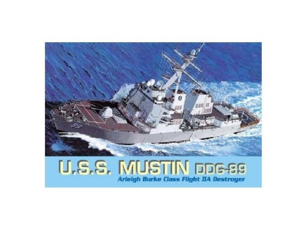 1/700 Plastikový model - loď 7044 - U.S.S. MUSTIN DDG-89