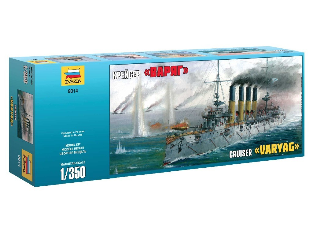1/350 Plastikový model - loď 9014 - Russian Cruiser Varyag