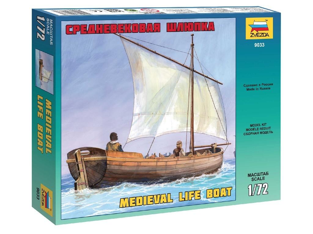 1/72 Plastikový model - loď 9033 - Medieval Life Boat