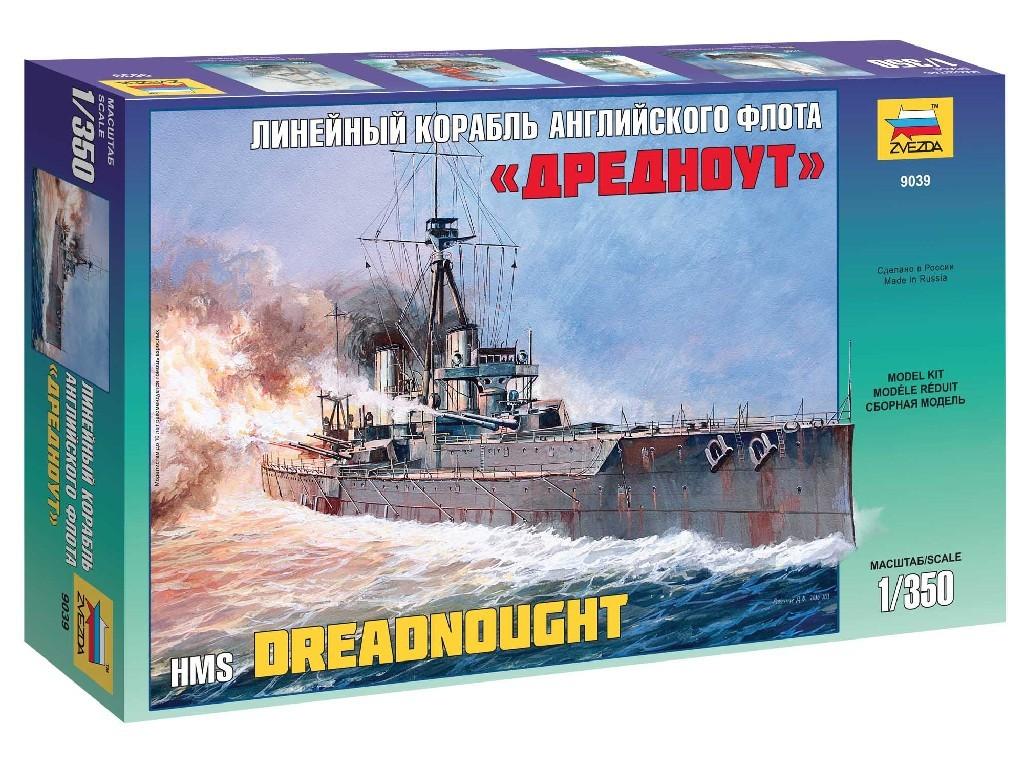 1/350 Plastikový model - loď 9039 - Battleship Dreadnought