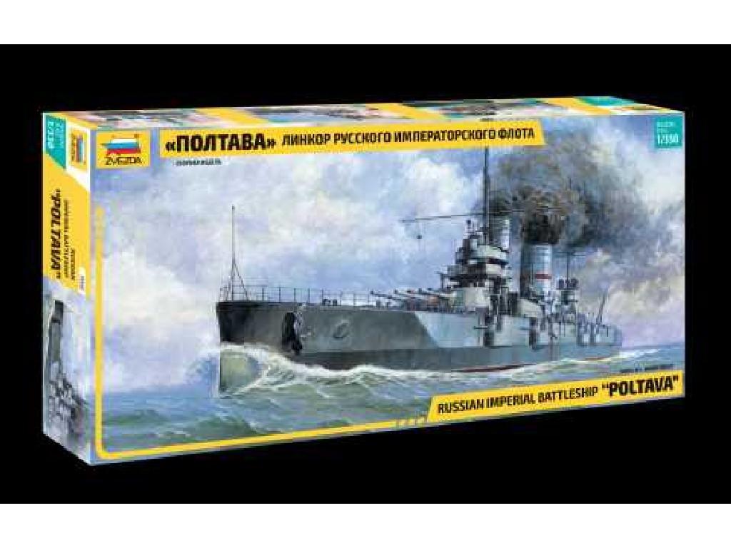 1/350 Plastikový model - loď 9060 - Russian Battleship Poltava