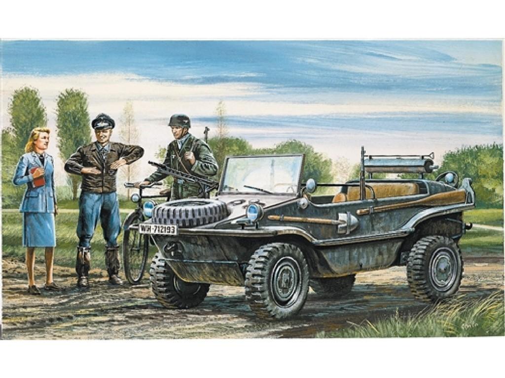 1/35 Plastikový model - military 0313 - Kfz. 69 SCHWIMMWAGEN