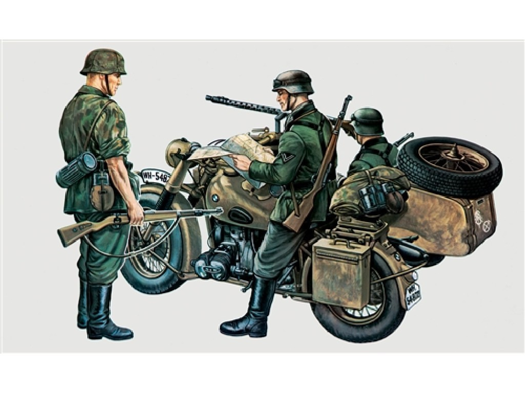1/35 Plastikový model - military 0315 - BMW R75 with Sidecar