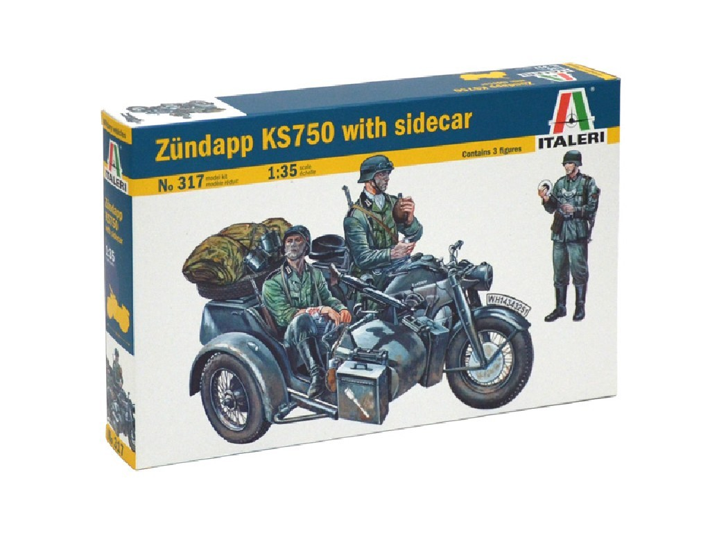 1/35 Plastikový model - military 0317 - ZÜNDAPP KS750