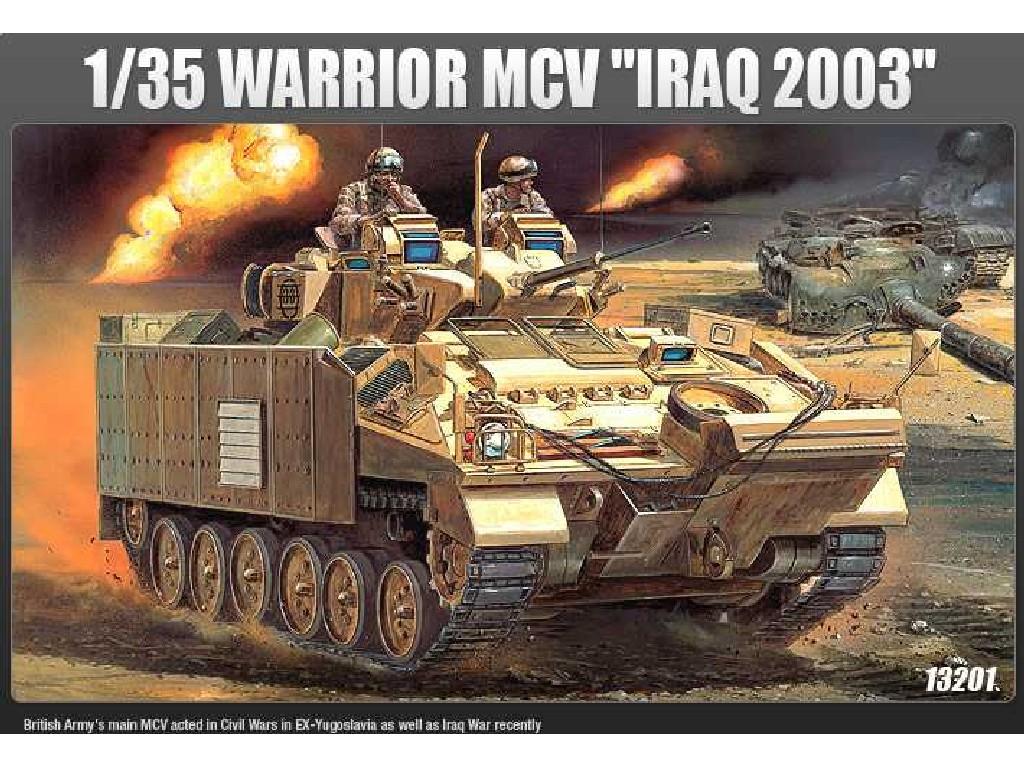 1/35 Plastikový model - military 13201 - WARRIOR MCV IRAQ 2003