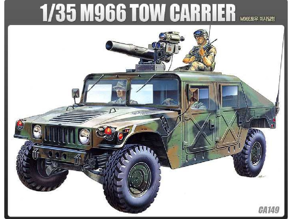 1/35 Plastikový model - military 13250 - M-966 HUMMER WITH TOW
