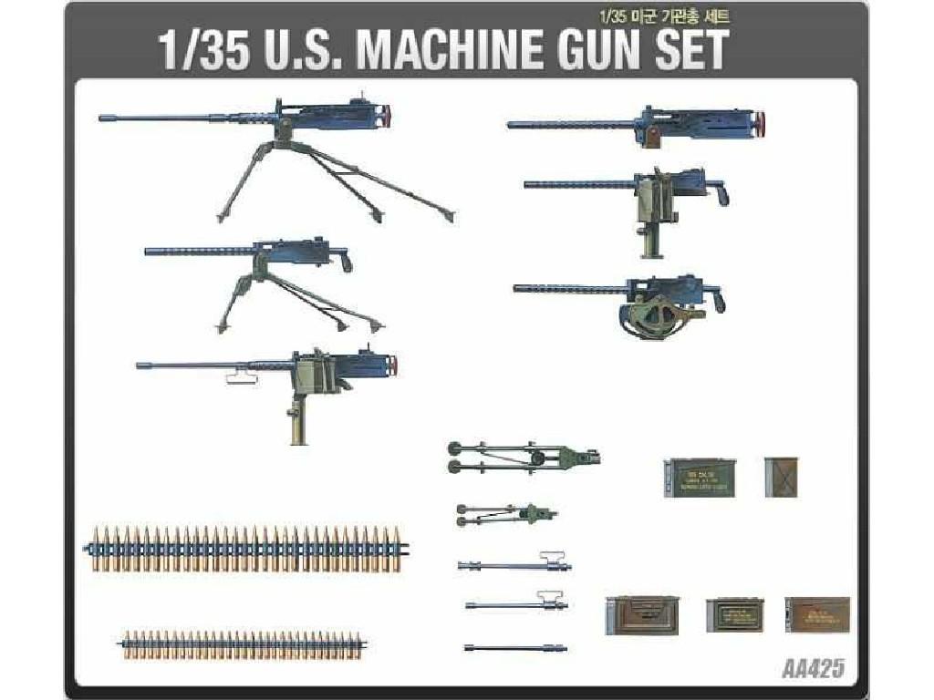 Academy - 13262 - US MACHINE GUN SET 1:35