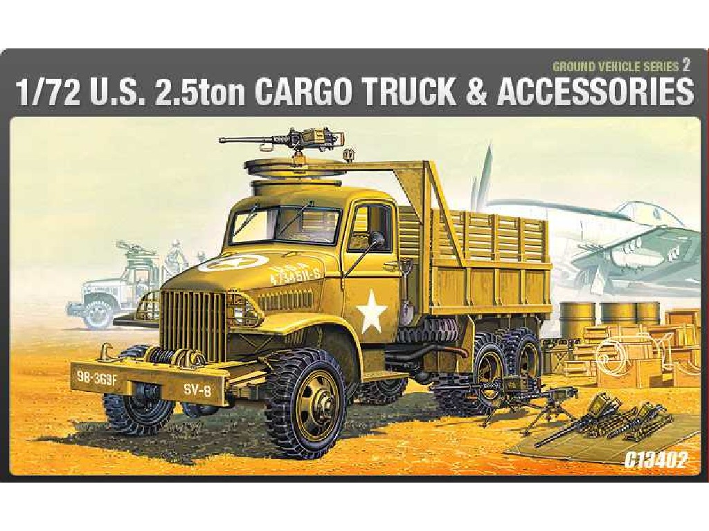 1/72 Plastikový model - military 13402 - US CARGOTRUCK and ACCESSORY