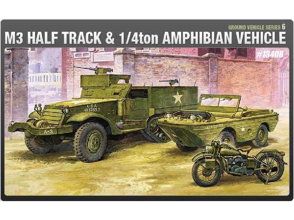 1/72 Plastikový model - military 13408 - M3 U.S HALF TRACK