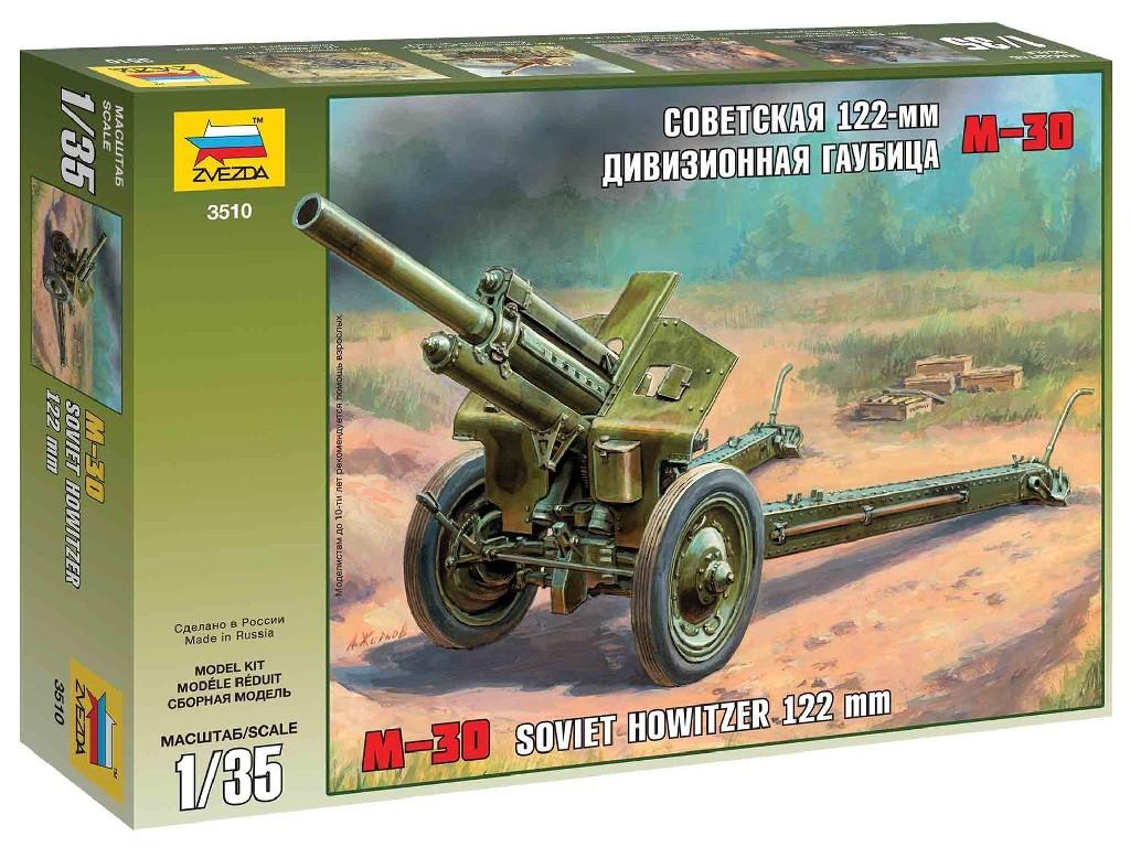 1/35 Plastikový model - military 3510 - M30 Soviet Howitzer 122 mm