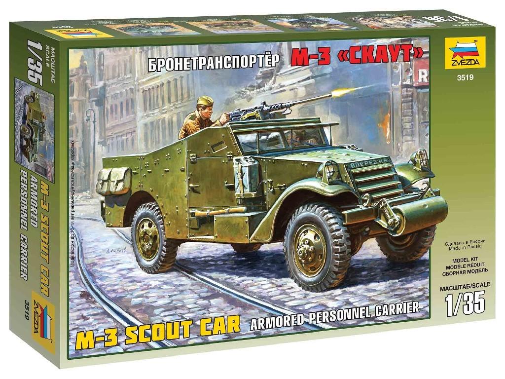 1/35 Plastikový model - military 3519 - M-3 Armored Scout Car