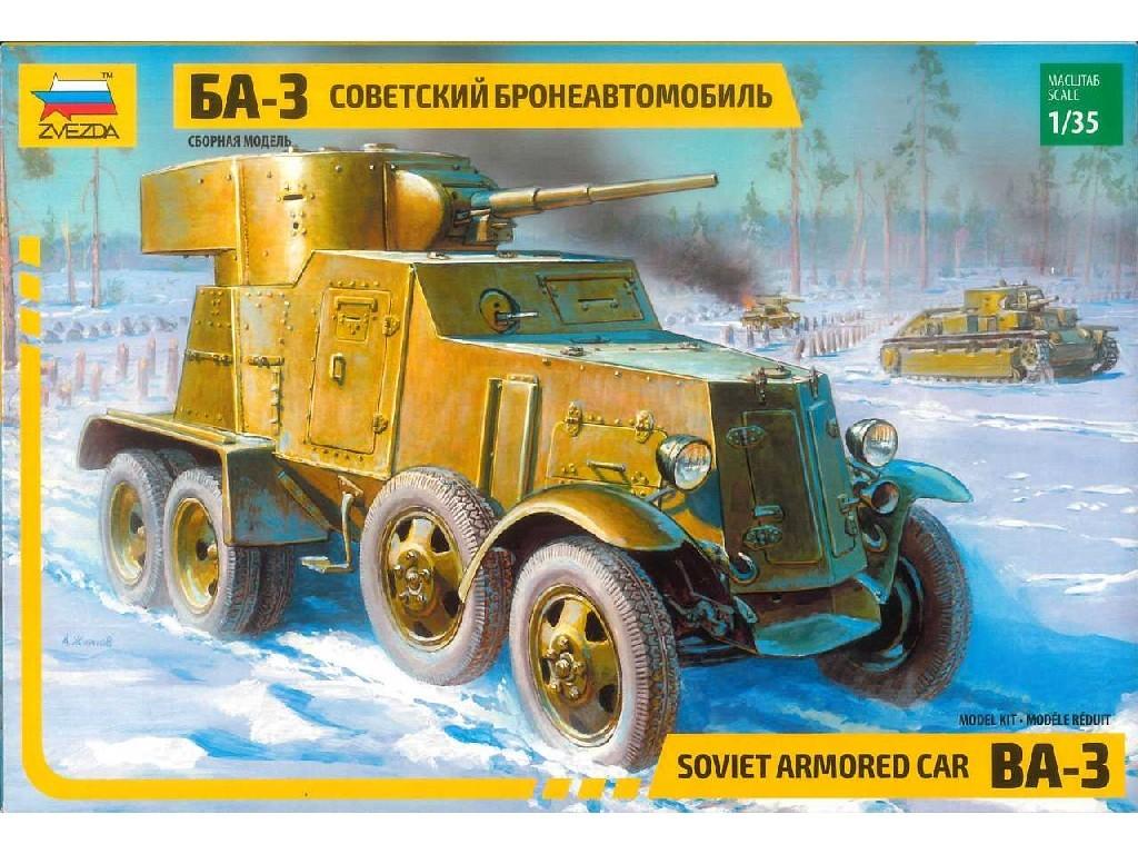 1/35 Plastikový model - military 3546 - BA-3 Armored Car (re-release)
