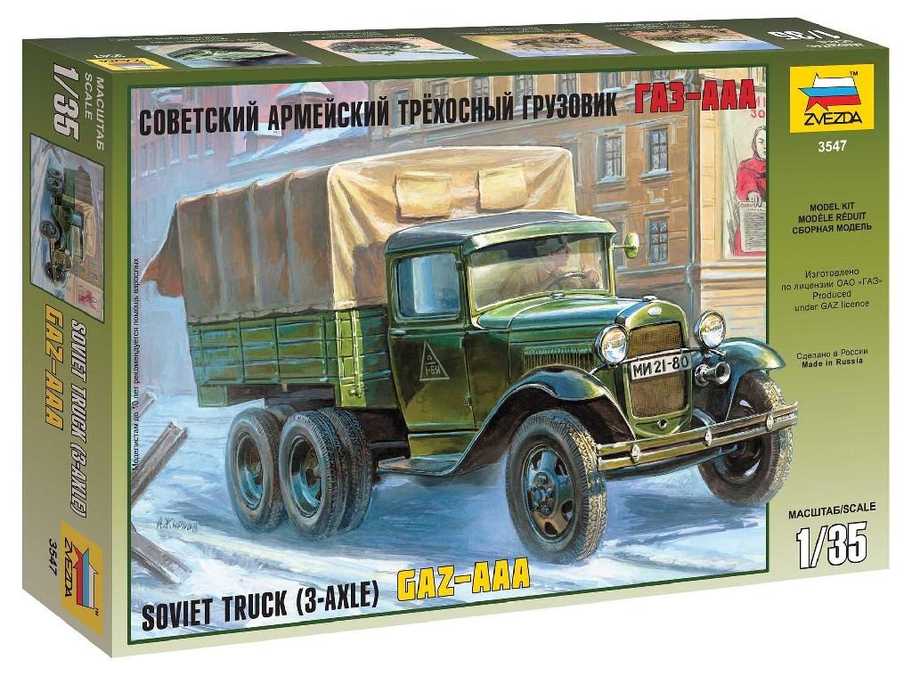 1/35 Plastikový model - military 3547 - GAZ-AAA Soviet Truck (3-axle)