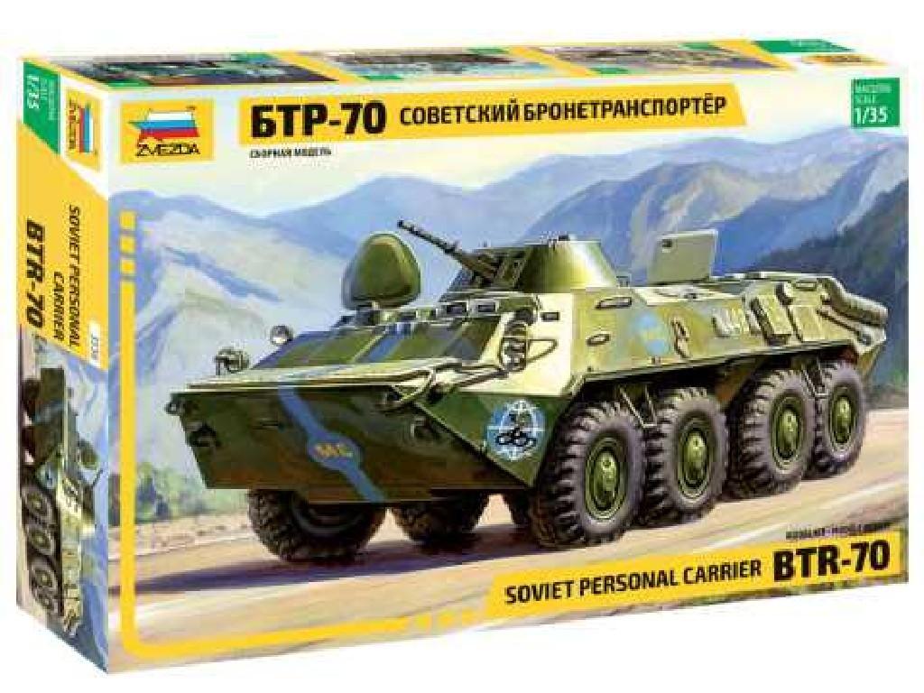 1/35 Plastikový model - military 3556 - BTR-70 Soviet APC (re-release)