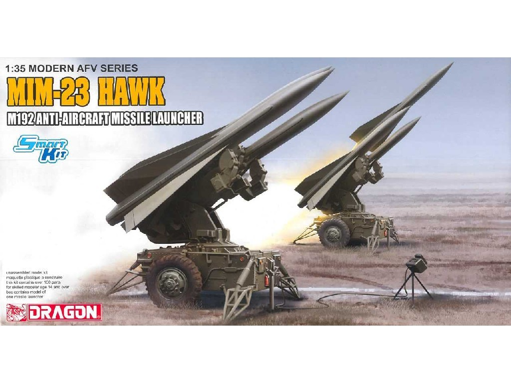 1/35 Plastikový model - military 3580 - MIM-23 HAWK M192 ANTIAIRCRAFT MISSILE LAUNCHER