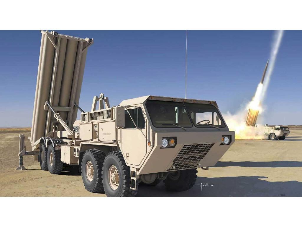 1/35 Plastikový model - military 3605 - M1120 Terminal High Altitude Area Defense Missile Launcher