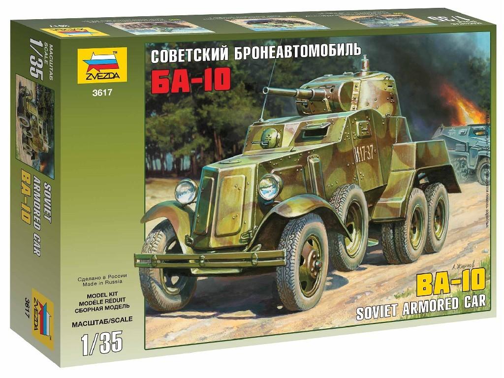 1/35 Plastikový model - military 3617 - Soviet Armored Car BA-10