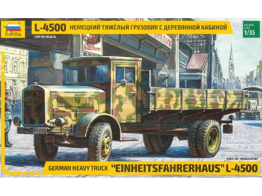 1/35 Plastikový model - military 3647 - L-4500 Einheitsfahrerhaus (RR)