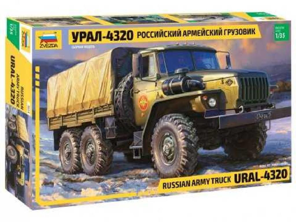 1/35 Plastikový model - military 3654 - RUSSIAN ARMY TRUCK URAL4320