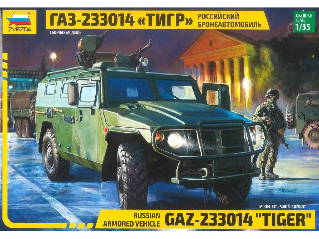 1/35 Plastikový model - military 3668 - Russian Armored Vehicle GAZ Tiger
