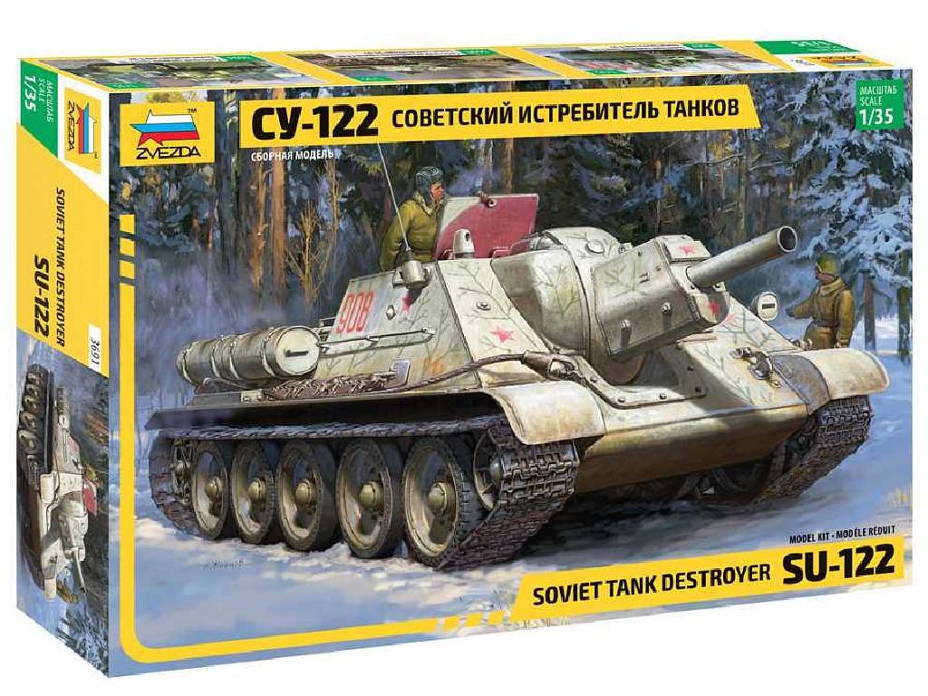 1/35 Plastikový model - military 3691 - Soviet tank Destroyer SU-122