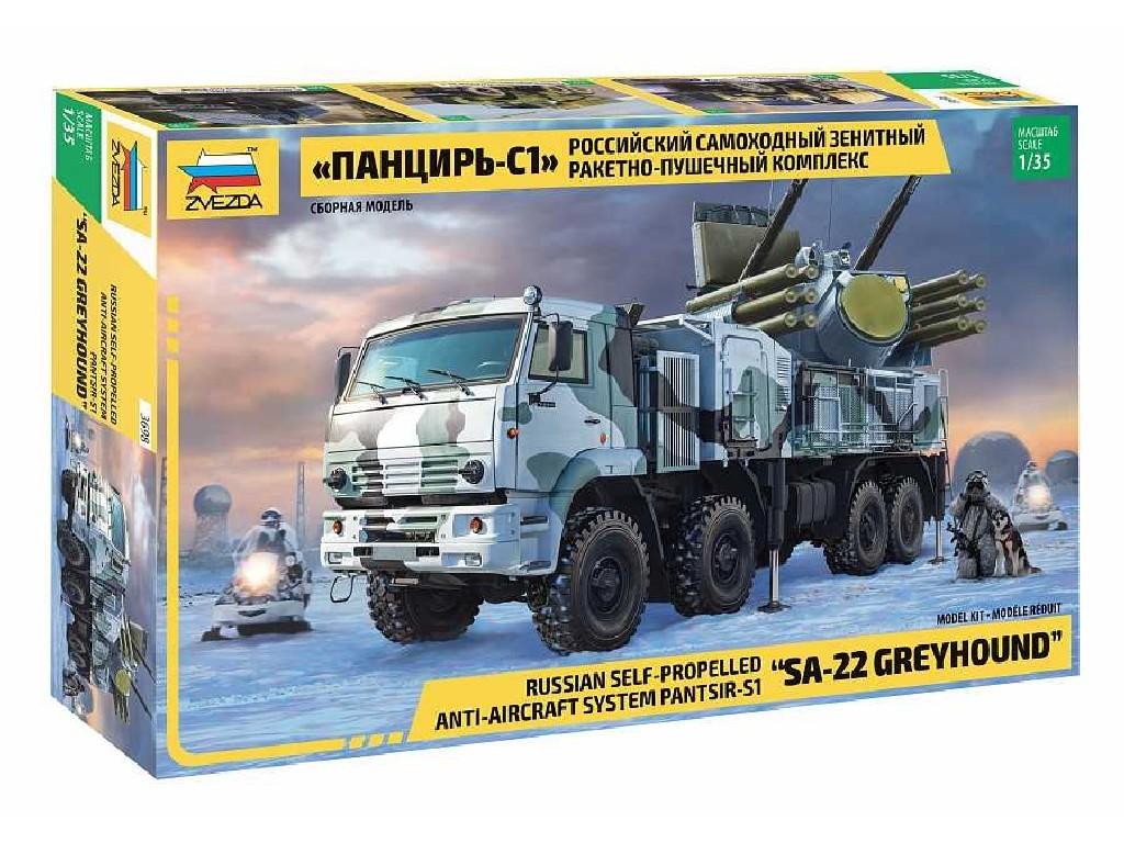 1/35 Plastikový model - military 3698 - Panzir S-1 SA-22 Greyhound