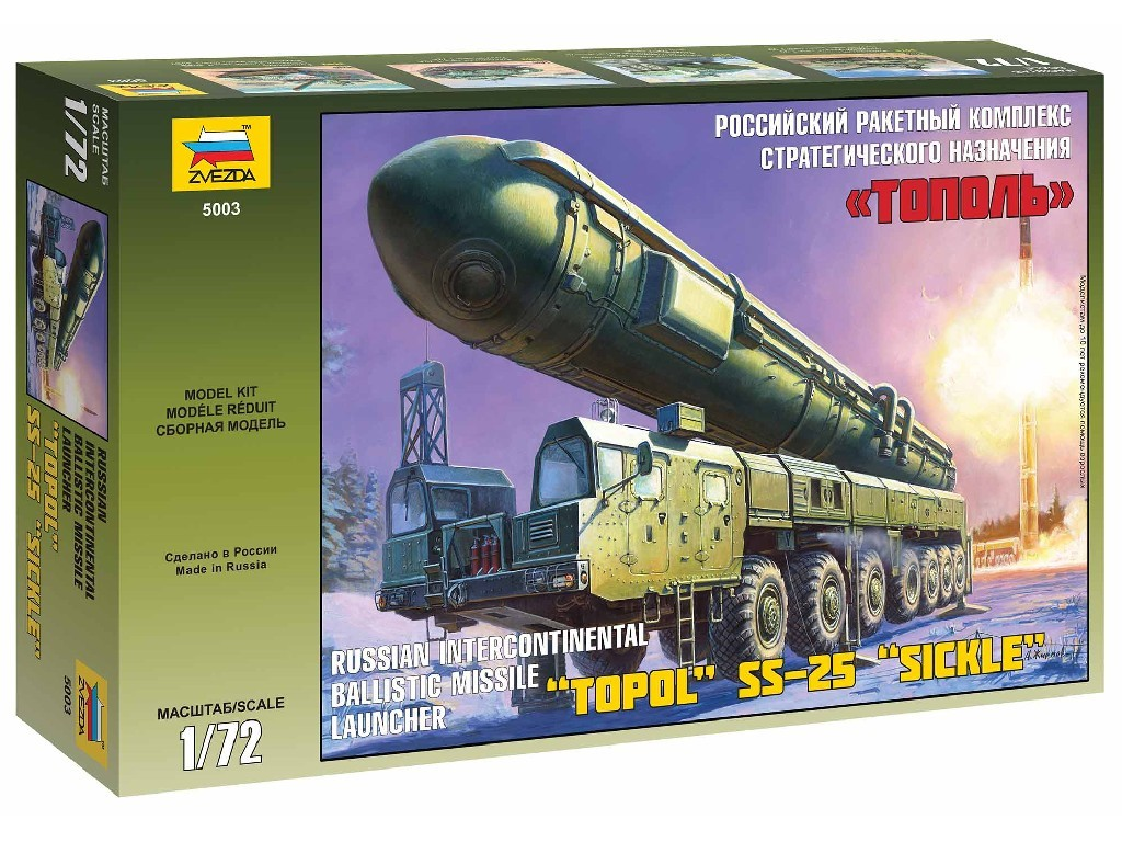 1/72 Plastikový model - military 5003 - Ballistic Missile Launcher Topol