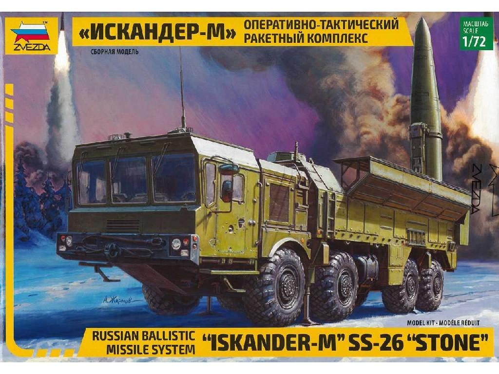 1/72 Plastikový model - military 5028 - Ballistic Missile System Iskander-M SS-26 STONE