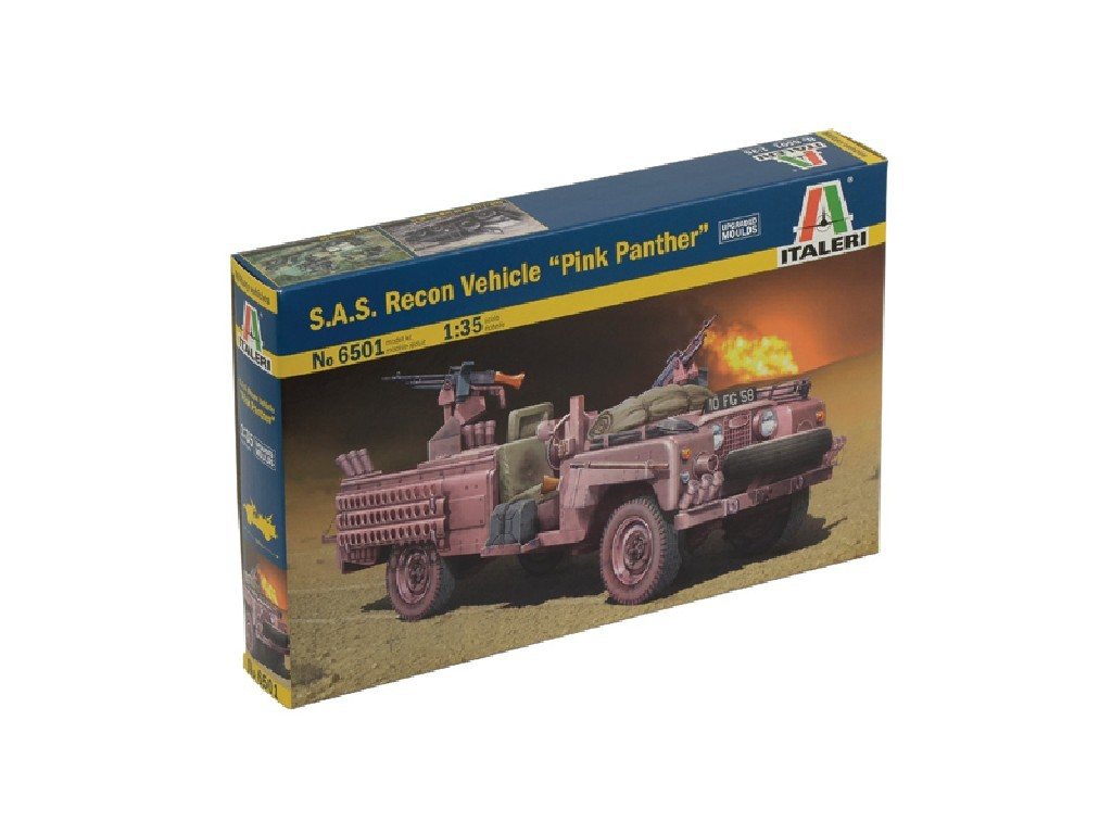 1/35 Plastikový model - military 6501 - S.A.S. RECON VEHICLE PINK PANTHER