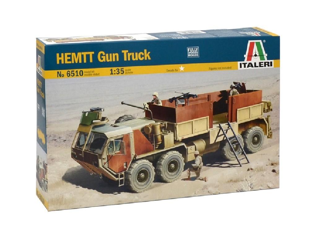 1/35 Plastikový model - military 6510 - HEMTT Gun Truck