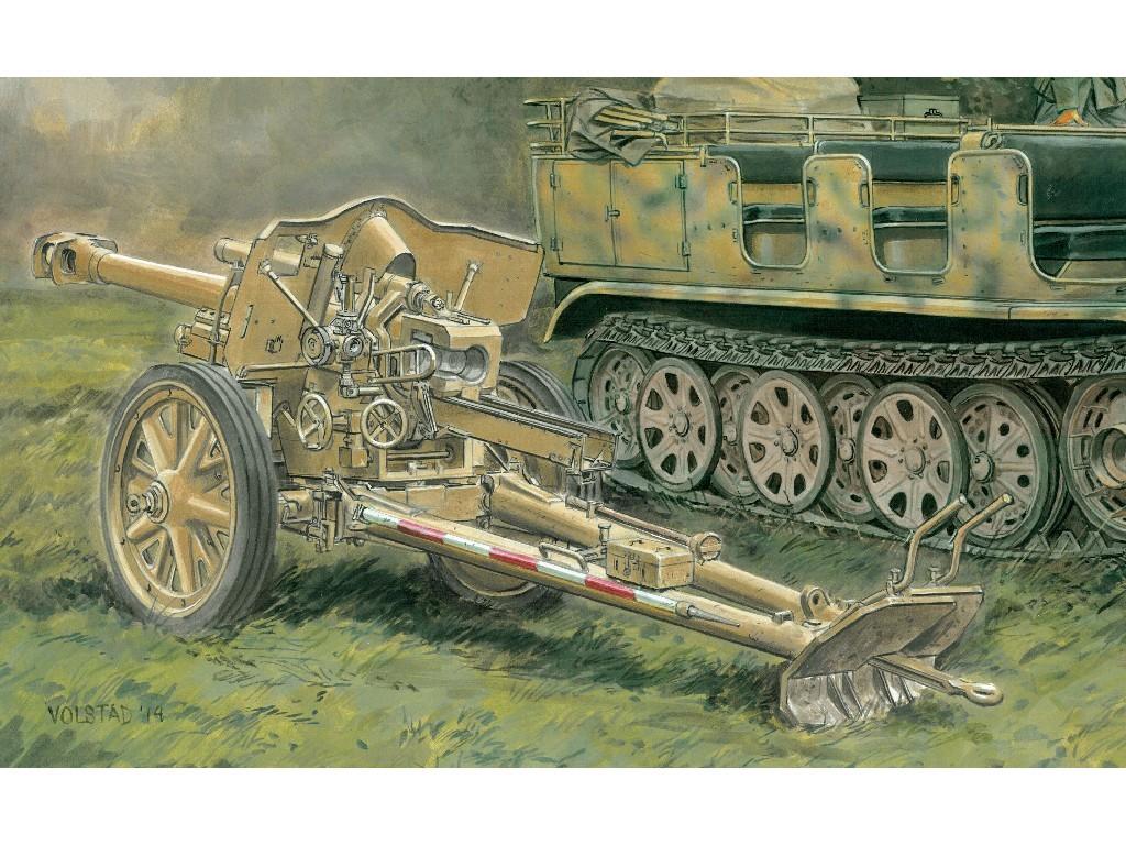 1/35 Plastikový model - military 6795 - leFH 18 w/GUN CREW