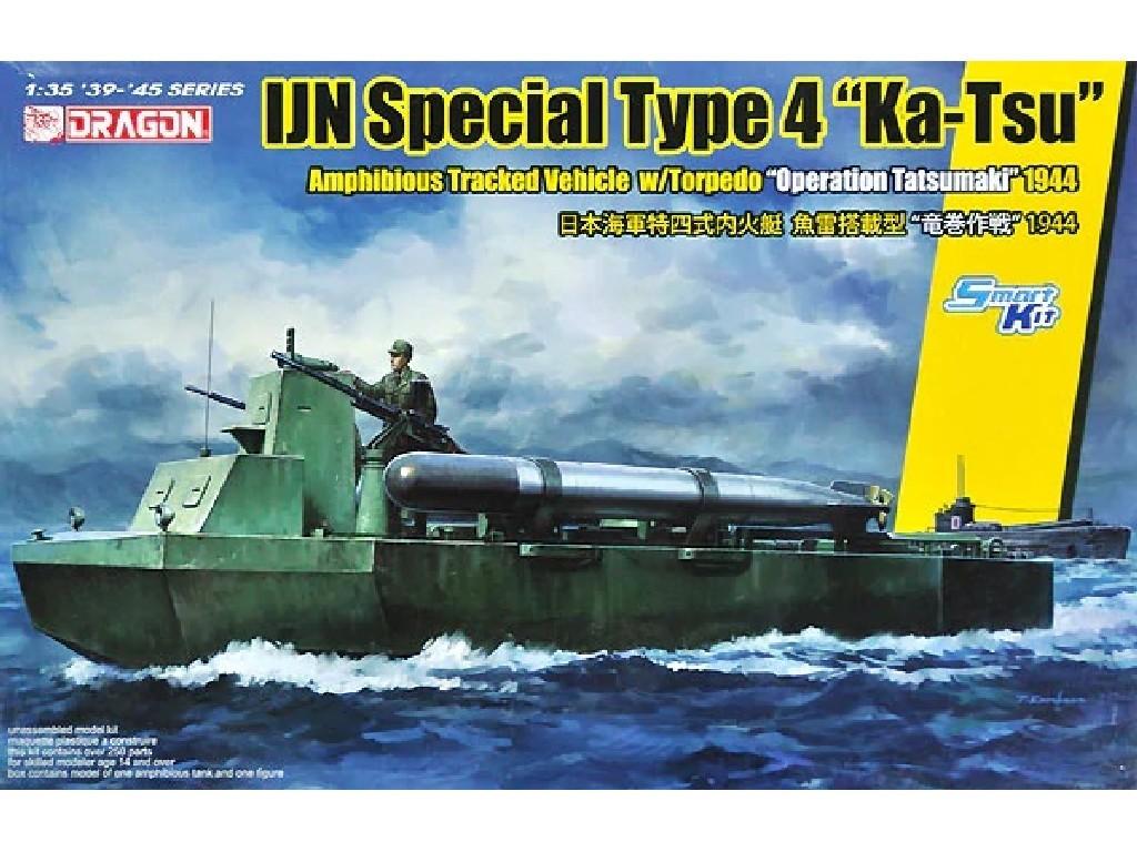 1/35 Plastikový model - military 6849 - IJN SPECIAL TYPE 4 KA-TSU w/TORPEDO OPERATION TATSUMAKI