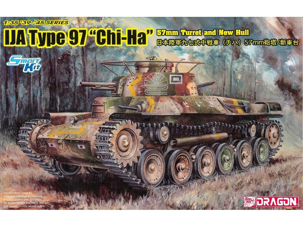 1/35 Plastikový model - military 6875 - IJA Type 97 Chi-Ha w/57mm Gun and New Hull