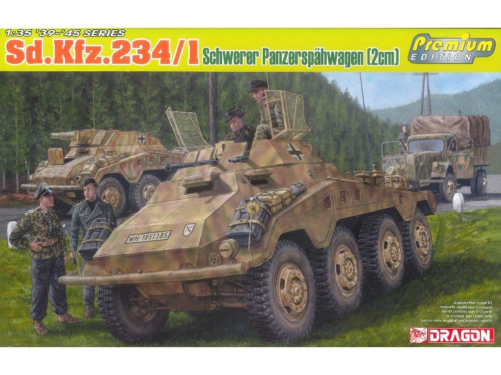 1/35 Plastikový model - military 6879 - Sd.Kfz.234/1 schwerer Panzerspähwagen (2cm)