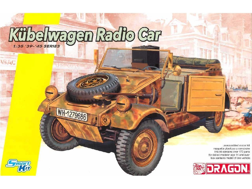 1/35 Plastikový model - military 6886 - Kubelwagen Radio Car