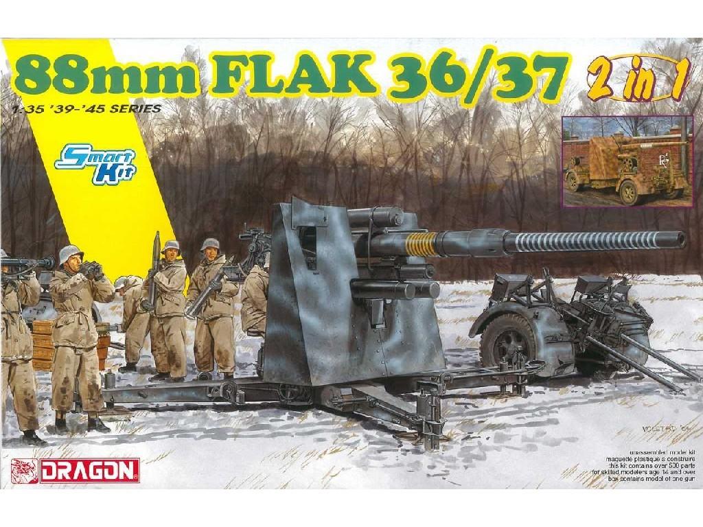 1/35 Plastikový model - military 6923 - 88mm FlaK 36/37 (2 in 1)