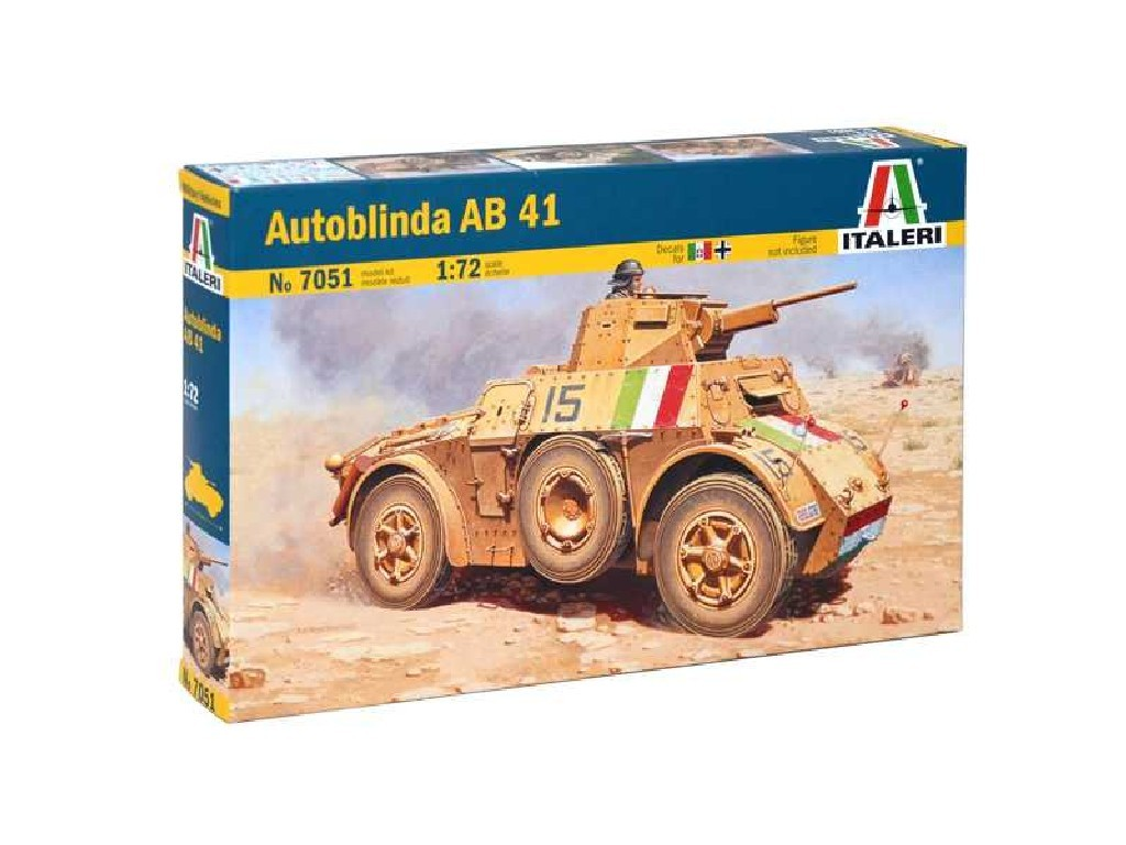 1/72 Plastikový model - military 7051 - AUTOBLINDA AB41