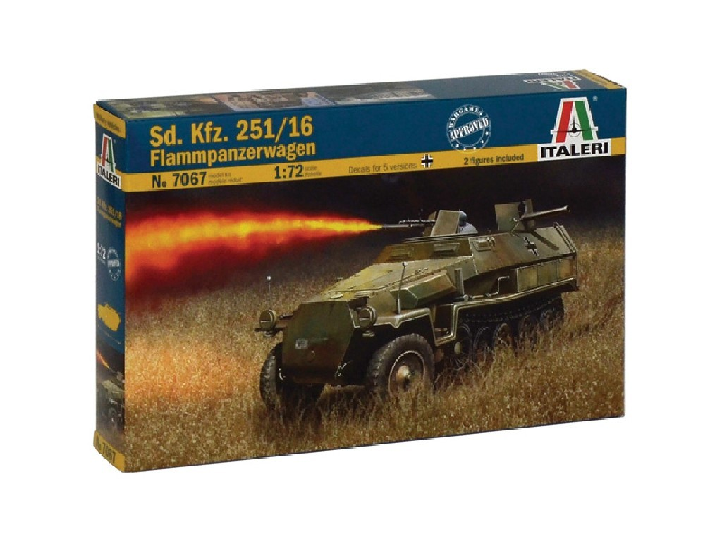 1/72 Plastikový model - military 7067 - Sd.Kfz.251/16 Flammpanzerwagen