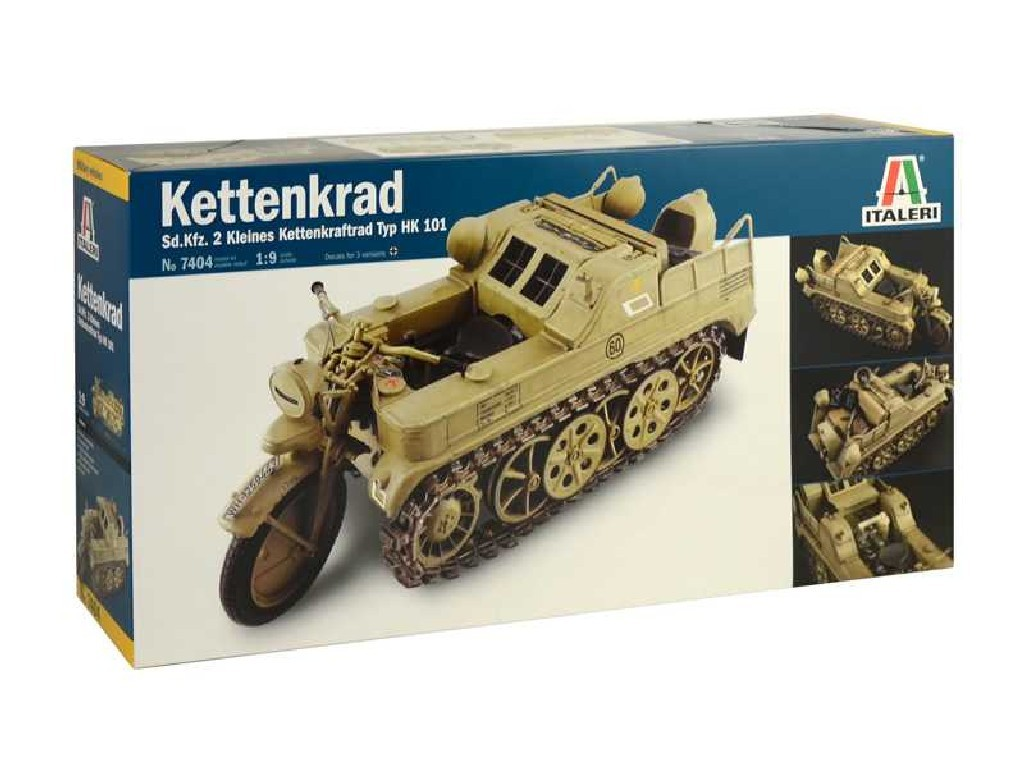 1/9 Plastikový model - military 7404 - HK 101 KETTENKRAD