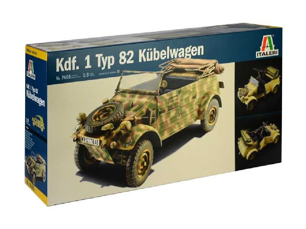 1/9 Plastikový model - military 7405 - Kdf.1 Typ 82 Kübelwagen