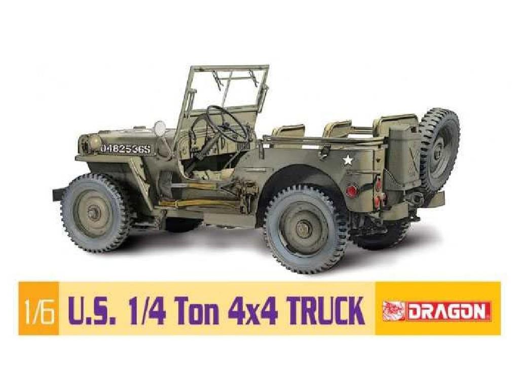 1/6 Plastikový model - military 75020 - 1/6 1/4-Ton 4x4 Truck