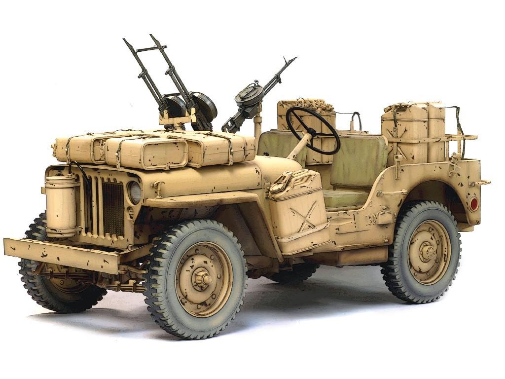 1/6 Plastikový model - military 75038 - SAS 4X4 DESERT RAIDER