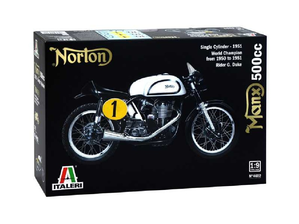 1/9 Plastikový model - motorka 4602 - NORTON MANX 500cc 1951