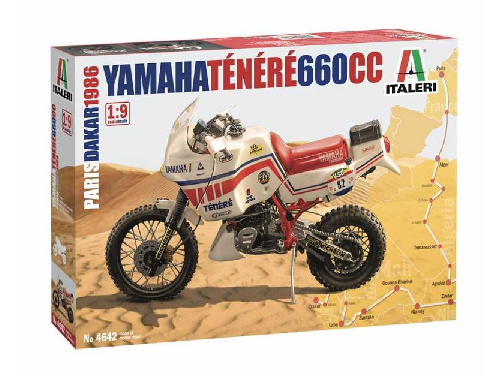 1/9 Plastikový model - motorka 4642 - Yamaha Tenere 660 cc Paris Dakar 1986