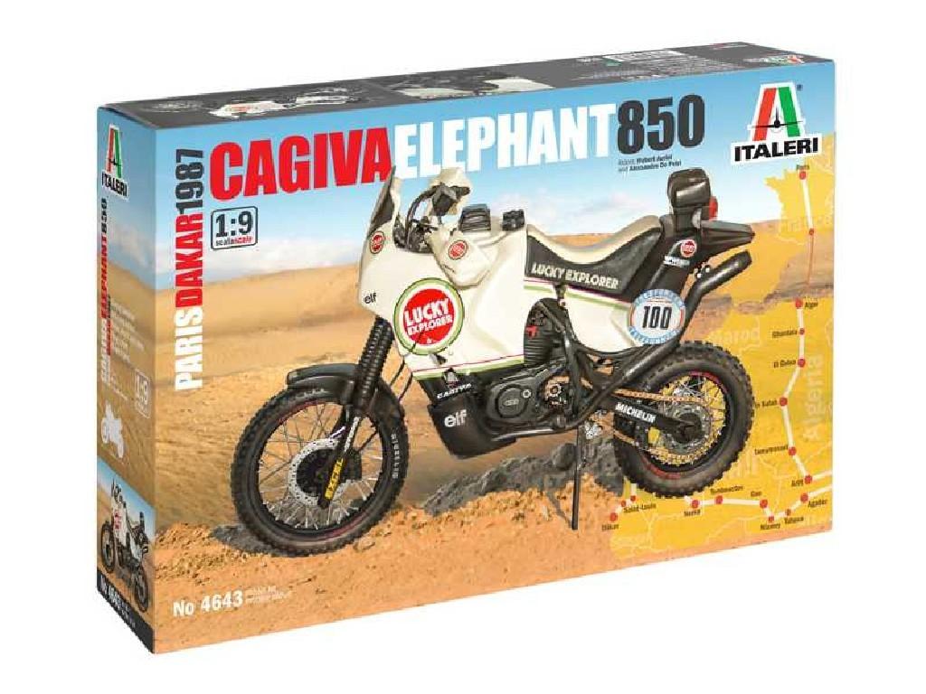 Italeri - motorka 4643 - Cagiva Elephant 850 Paris-Dakar 1987 1:9