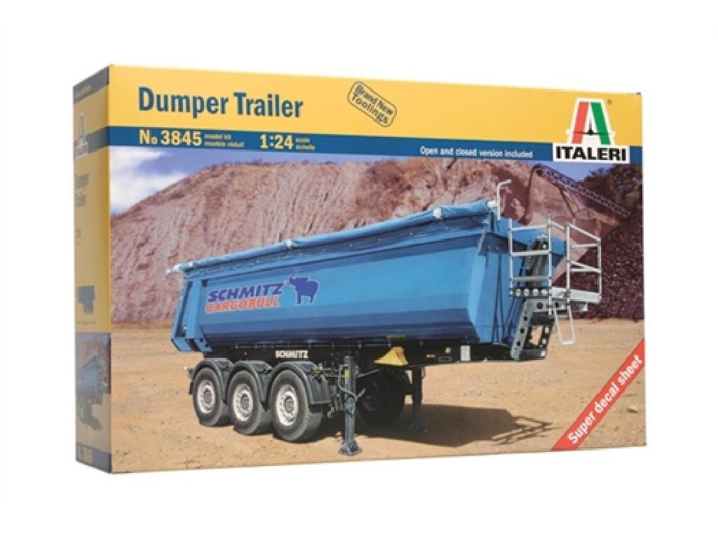 1/24 Plastikový model - návěs 3845 - DUMPER TRAILER