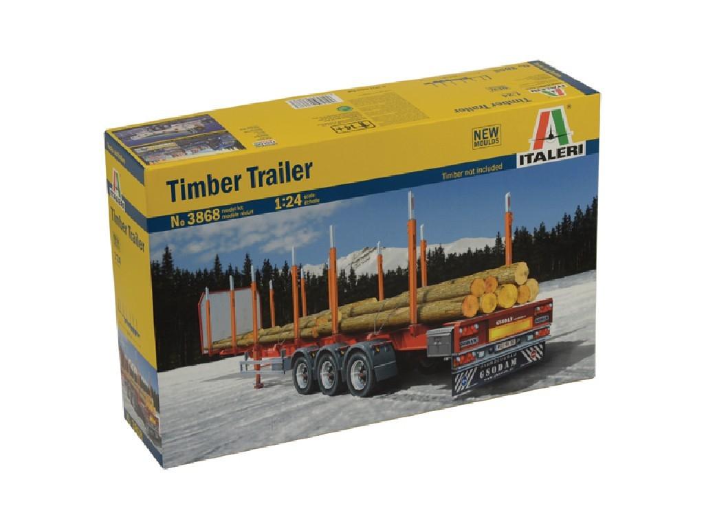 1/24 Plastikový model - návěs 3868 - TIMBER TRAILER